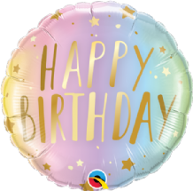 "Birthday Ombre & Stars Foil Balloon (18"") 1pc"